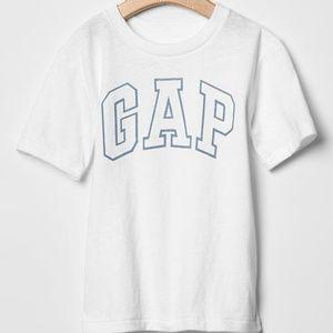 Baby Gap shirt white GAP arch LOGO top NWT